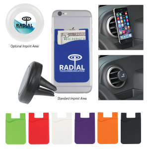 Auto Air Vent Magnetic Phone Wallet