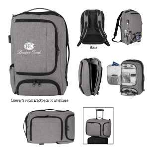 Heathered RFID Computer Backpack And Briefcase